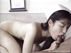 Japanese nurse is fucked hard and fast