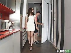 A tight white dress and a blow job escapade