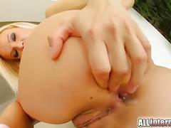 All internal thin blonde takes that cock all the way in her