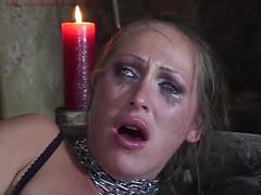 Mandy bright chained and double penetrated in her cunt