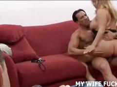 Watch a total stranger pounding your wifes pussy