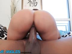 Big booty latina pounds bbc