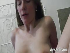 Teen slut fist fucked by random men