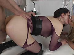 Evil angel sarah shevon joins dahlia sky for a...