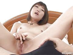 small tits, masturbation, censored, brown hair, japanese babe, japanese slurp, all japanese pass, chika sena
