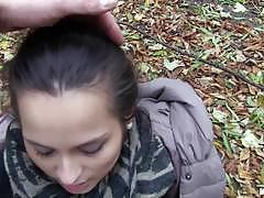 ashley woods, blowjob, riding, cumshot, suck, cum, sexy, pussy, outdoor, outdoors, european, euro, nature, bench, rider, camera, cock, pov, public, winter