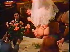 Retro wedding orgy