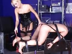 Lady natalie black fucks her slave