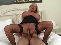 sharon pink, blowjob, riding, big tits, doggystyle, cumshot, blonde, reverse cowgirl, stockings, heels, fishnet, cowgirl, pussy licking, spooning, sucking