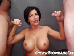 Big tit milf shay fox does blowbang with amateur guys