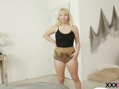 Curvy velvet rain is obsessed with her stepbro