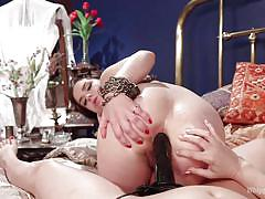 milf, anal, strap on, lesbian domination, vibrator, brunettes, pussy rubbing, big breasts, fucked from behind, whipped ass, kink, dana dearmond, juliette march