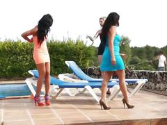 Leche 69 latinas poolside orgy