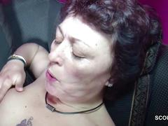 Step-son caught stepmom masturbate and fuck her
