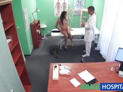 Fakehospital doctor examines cute hot sexy patient