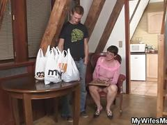 Horny mother in law forced me into sex