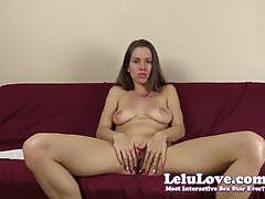 Lelu love seductive brunette lelu love masturb...