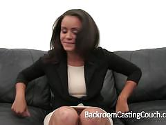 Backroom casting couch ass fucking at intervie...