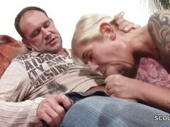 Daddy seduce petite german not step-daughter to fuck
