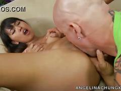 Angelina chung gets her pretty pussy played with