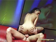 Porn on stage racy angel dark gets her pussy n...