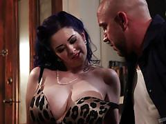 will powers, larkin love, blowjob, big tits, doggystyle, cumshot, busty, reverse cowgirl, voluptuous, curvy, cowgirl, punk, goth