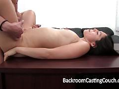 Backroom casting couch wild babe gets her puss...
