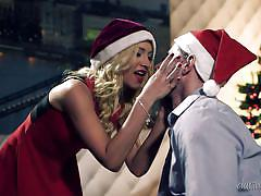 blonde, babe, blowjob, pussy licking, christmas, ball sucking, santa claus hat, boobs groping, daring sex, fame digital, totti, kiara lord