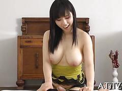 asian, big boobs, blowjob, busty, japanese, big tits, hardcore, sucking, brunette, wanking
