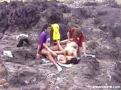 Betty and lulu, dp orgy in vulcano land