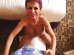 Busty granny up the ass and facial