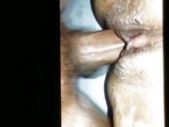 Balls deep creampie inside her wet pussy