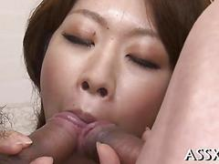 Racy hot asian threesome japanese clip 1