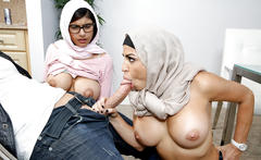 Busty mia khalifa having a 3some she is enjoying to the fullest