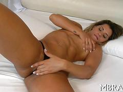 Brazilian blonde riding a hard cock with relentless lust