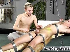 Blonde twink tickled in bondage by a british master