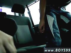 Twinks jack off and make out in the backseat
