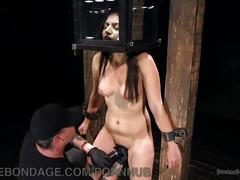 Fresh meat for dungeon bondage