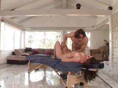 Massaging body and fucks