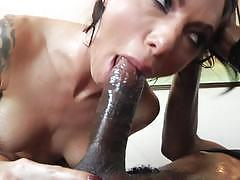 juelz ventura, brunette, blowjob, tattoo, cumshot, deep throat, shaved, babe, deep, pussy, face, oil, skinny, gag, ride, oiled ass, throat fuck, bbc, rides