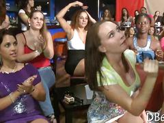 Black stripper gets grabbed and sucked off by feisty ladies