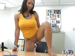 hardcore, mature, milf, wife, big tits, blowjob, fucking, dildo, office, pornstar