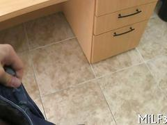 Busty big tits milf gets boned in an agents office