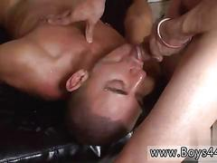 Twink gets black and white guys to wait for his ass