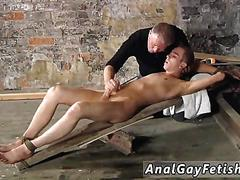 Bdsm session and the twink gets cock sucked
