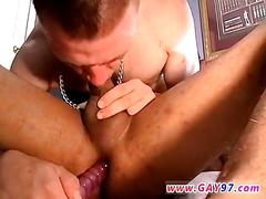 Dildo stuck deep in his ass all the way