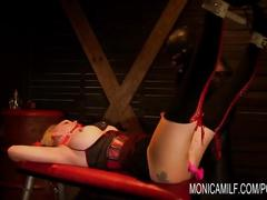 bondage, milf, anal, squirt, monicamilf, ass-fuck, bdsm, orgasm, squirting, mom, mother, norsk, norwegian, scandinavia, buttplug, norway, dungeon, gag