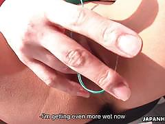 Japan hdv asian cuttie pie plays with her wet...
