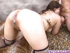All japanese pass oiled milf gets her pussy na...