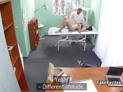 Brunette student fucked by doctor
